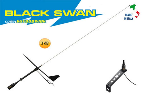 Marine VHF Masthead Antenna with Wind Indicator Black Swan